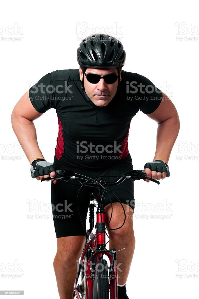 Cyclist Riding Bike royalty-free stock photo