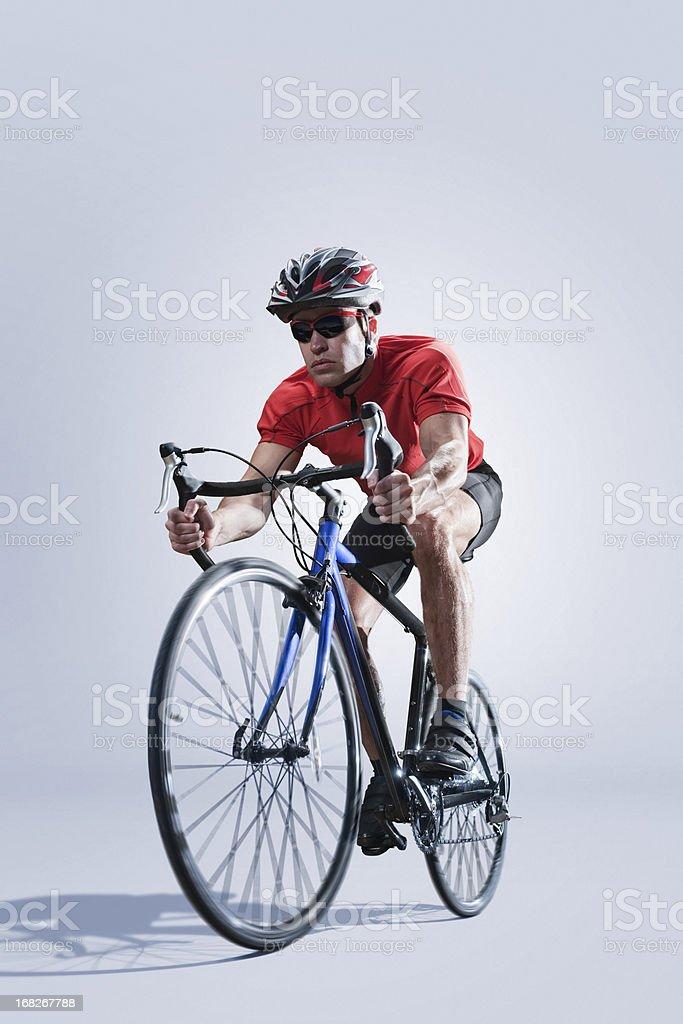 Cyclist Studio Portrait royalty-free stock photo