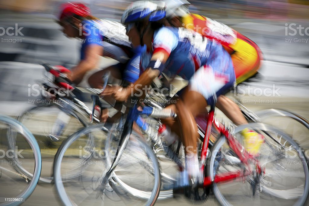 Cyclist XXLarge High Action Blur royalty-free stock photo