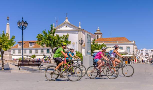 Radfahrer in Vila Real de Santo Antonio, Portugal – Foto