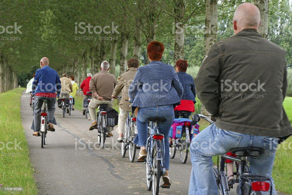 Cyclists # 8 stock photo