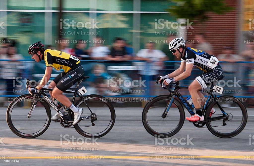 Cyclists racing - Burnaby stock photo