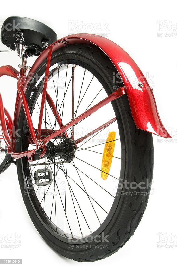 Cyclling Red Bike royalty-free stock photo