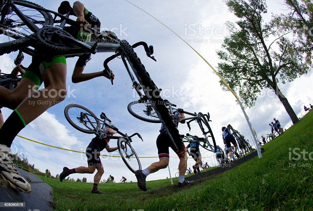 Cyclo-Cross Bicycle Race stock photo