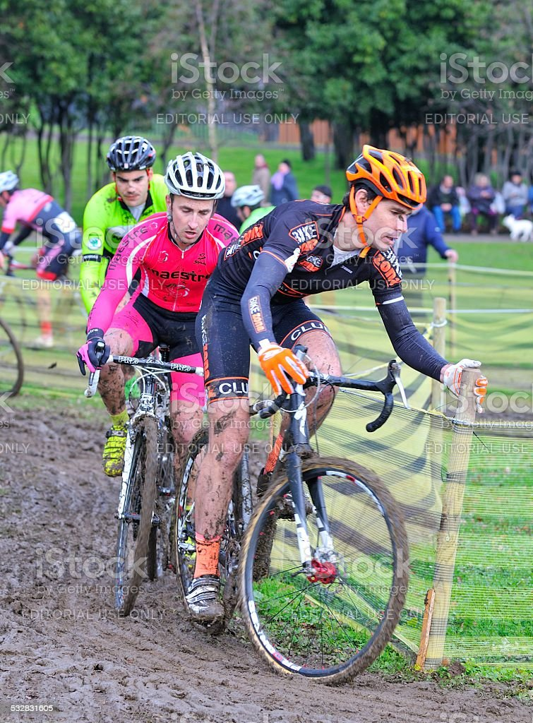 Cyclocross Championships Spain. stock photo