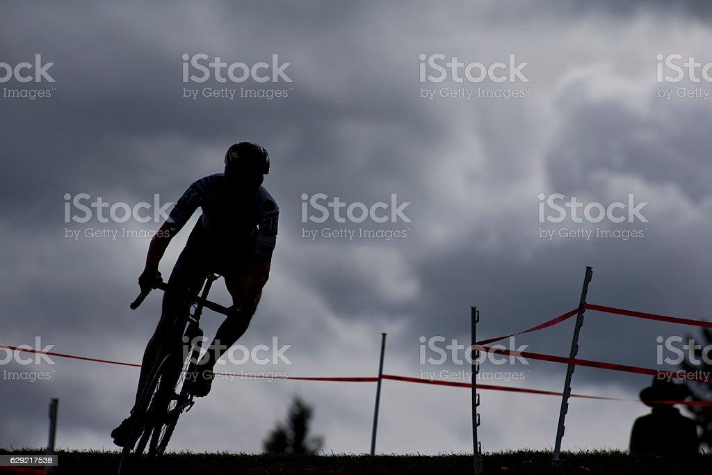 Cyclo-Cross Racer stock photo
