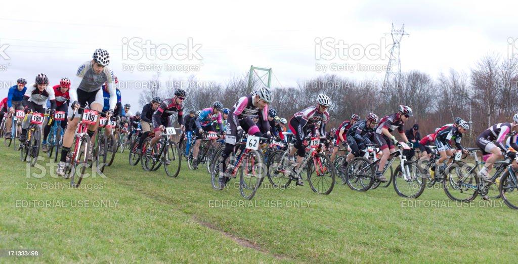 Cyclo-Cross Racing, Halifax Nova Scotia. stock photo