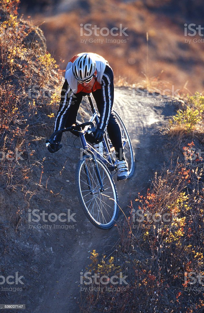 Cyclo-Cross Rider stock photo