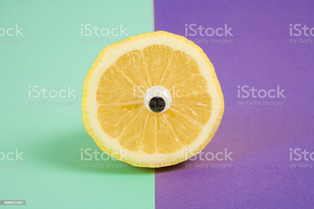 Cyclps lemon stock photo
