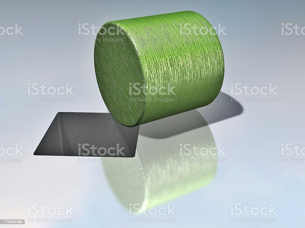 cylinder and squarish hole mean incompability stock photo