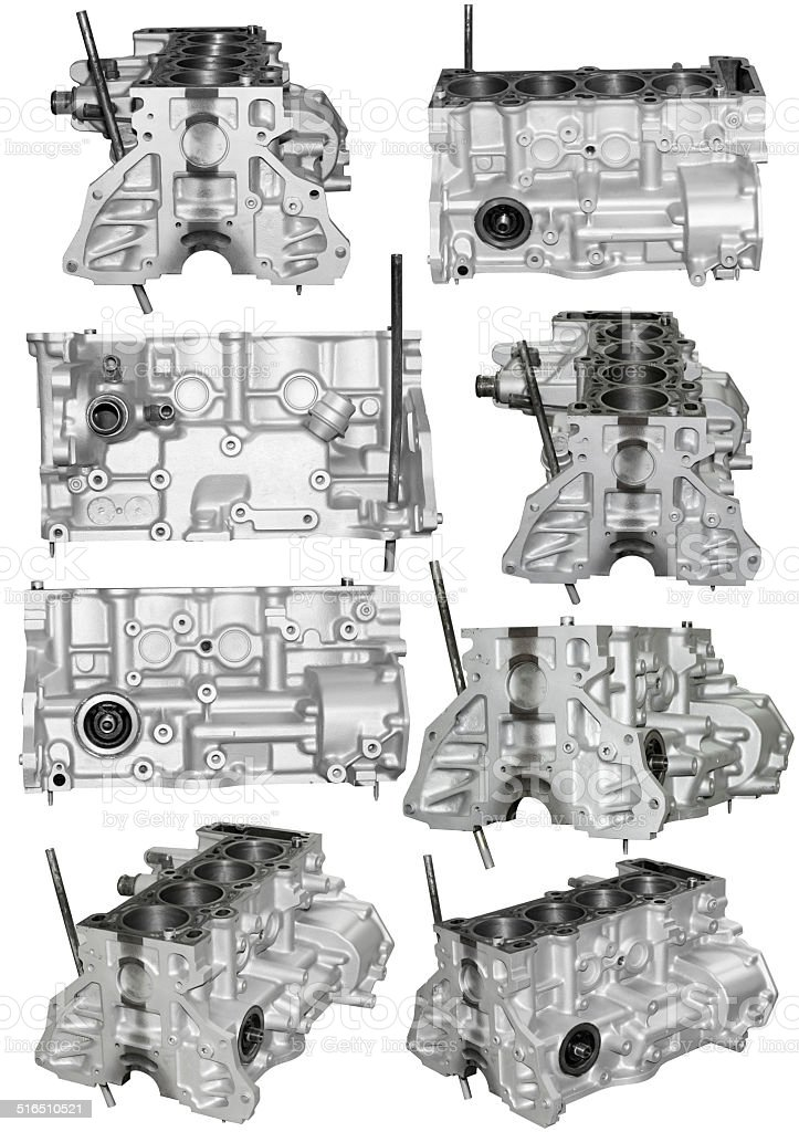 Cylinder block of a gasoline engine stock photo