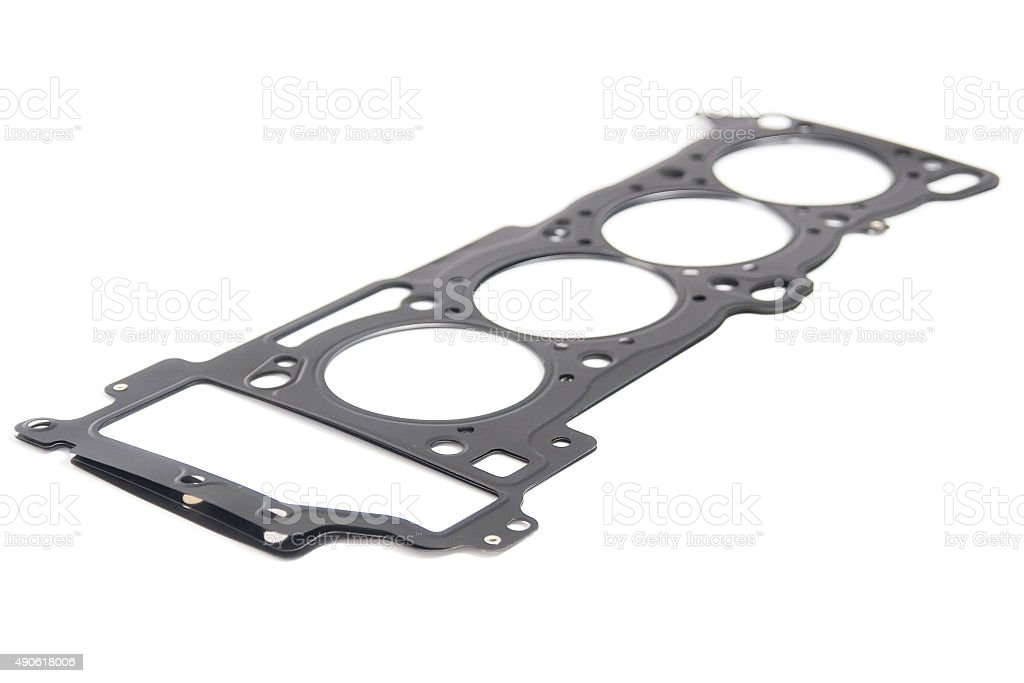 Cylinder head gasket car engine isolated stock photo