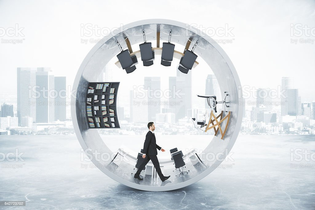 Cylinder office businessman stock photo