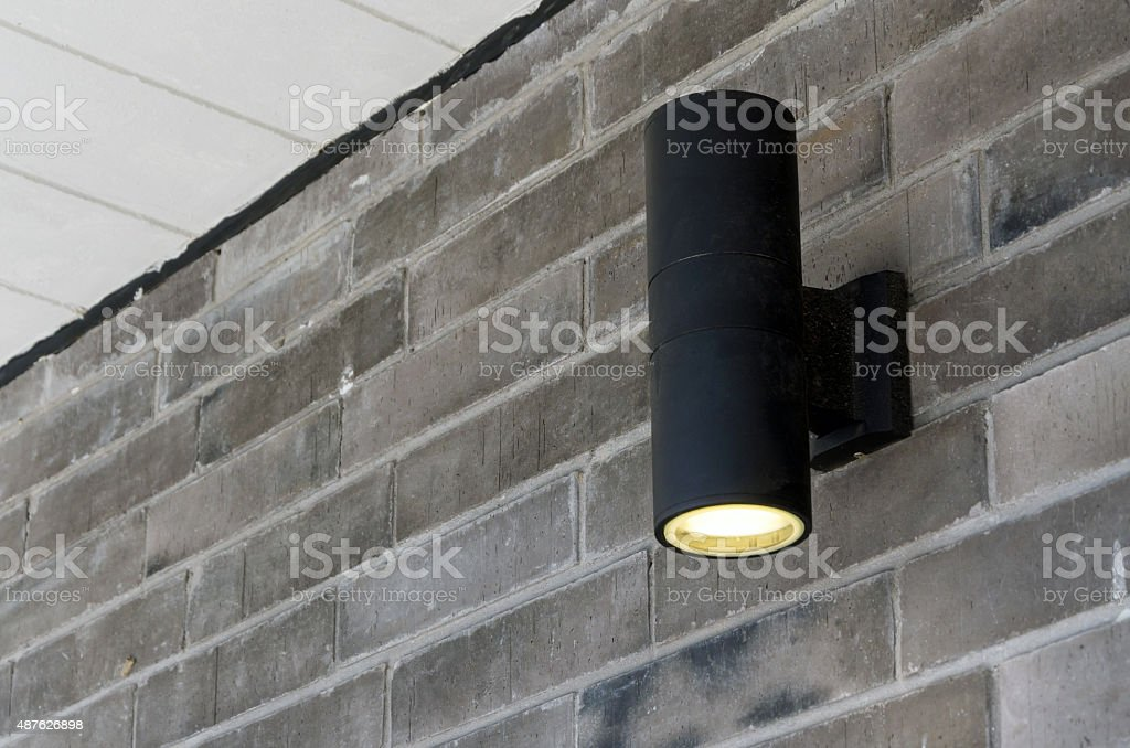 Cylinder wall light stock photo