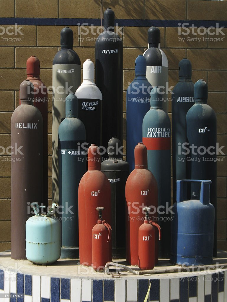 Cylinders royalty-free stock photo