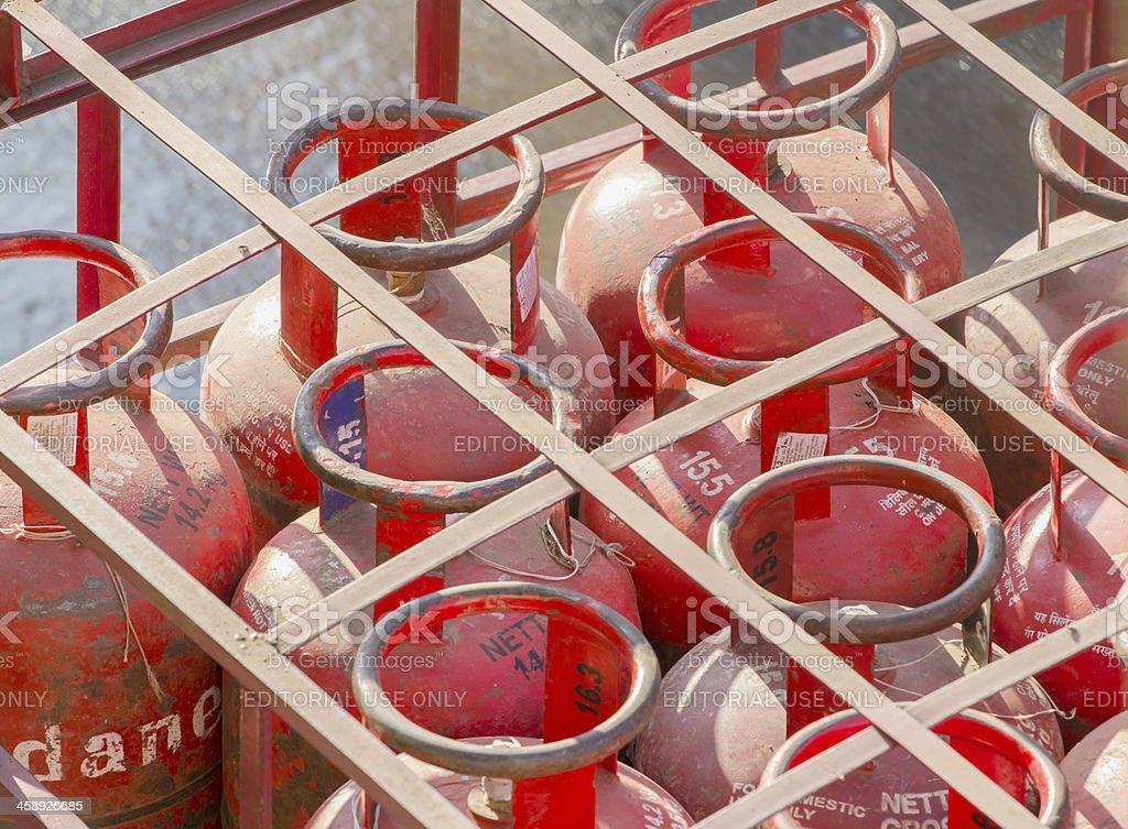 LPG cylinders stock photo