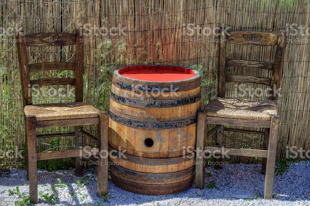 Cylindrical Barrel stock photo
