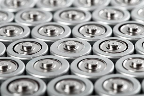 圓柱形電池安裝特寫 - 鋅 個照片及圖片檔