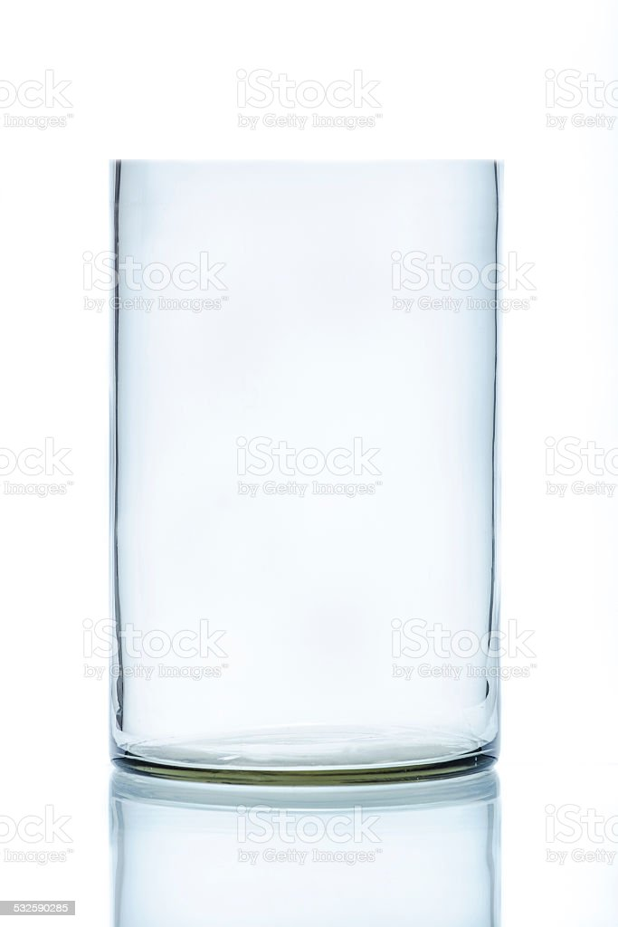 Cylindrical laboratory beaker stock photo