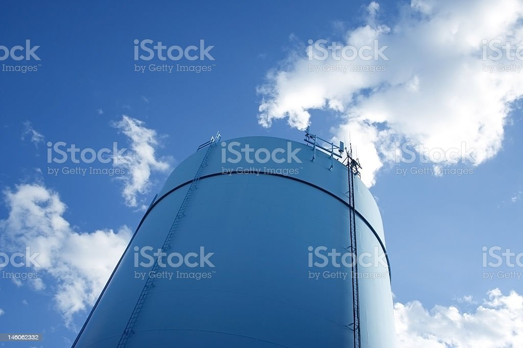 Cylindrical storage tower royalty-free stock photo