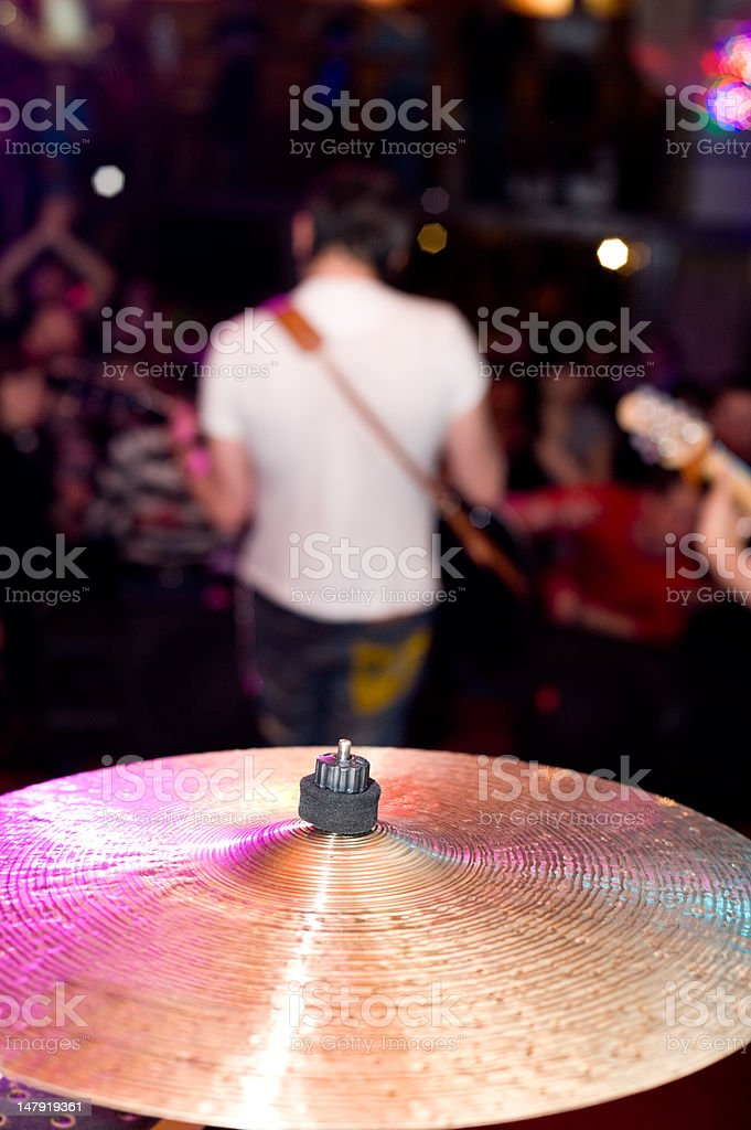 cymbal at concert royalty-free stock photo