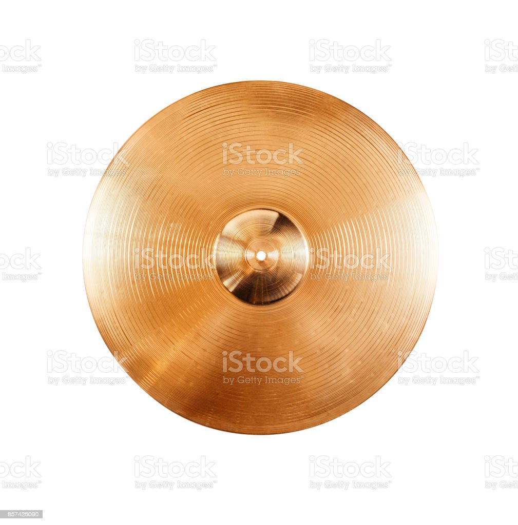 cymbal isolated on white stock photo