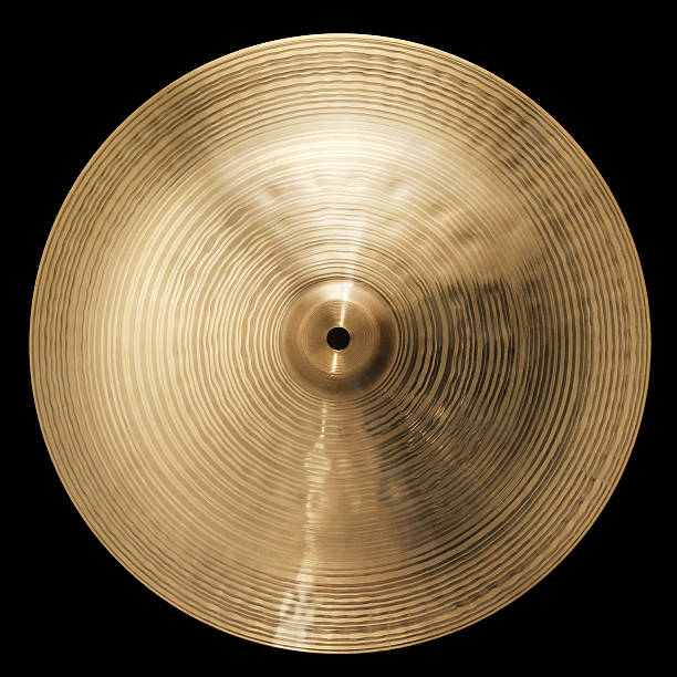 Cymbale Cymbal over black background (+Clipping Path) cymbal stock pictures, royalty-free photos & images