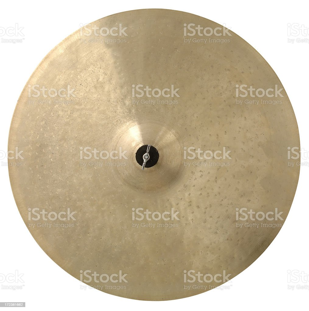 Cymbal with Path royalty-free stock photo