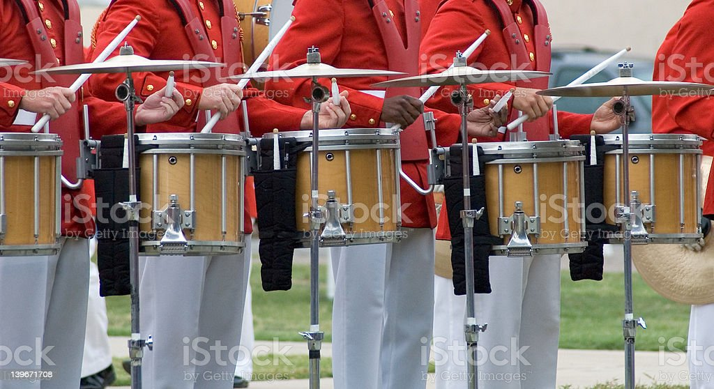 Cymbals and Drums royalty-free stock photo