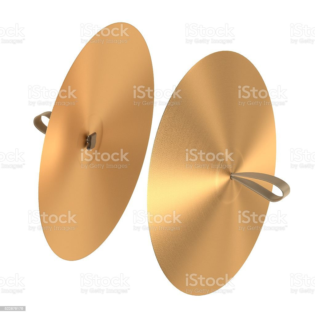 cymbals (musical insturment) stock photo