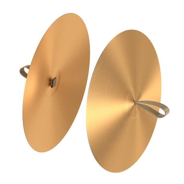 cymbals (musical insturment) 3d rendering of cymbals (musical insturment) cymbal stock pictures, royalty-free photos & images