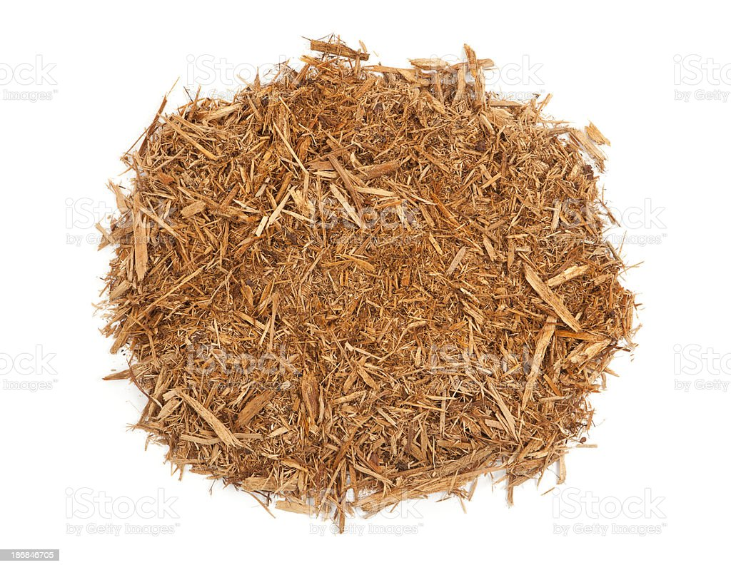 Cypress Mulch Isolated stock photo