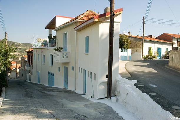 Cypriot Village - Omodhos stock photo
