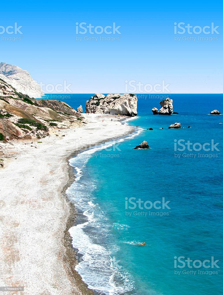Cyprus beach stock photo