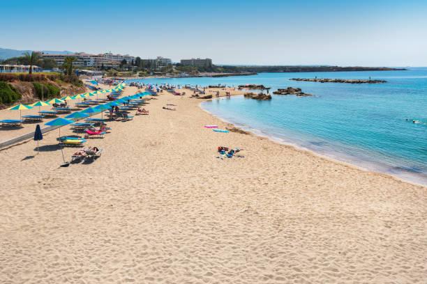 cyprus beach - cyprus стоковые фото и изображения