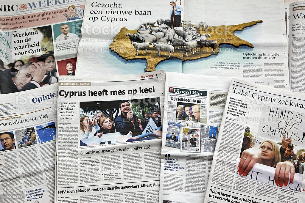 Cyprus financial crisis royalty-free stock photo