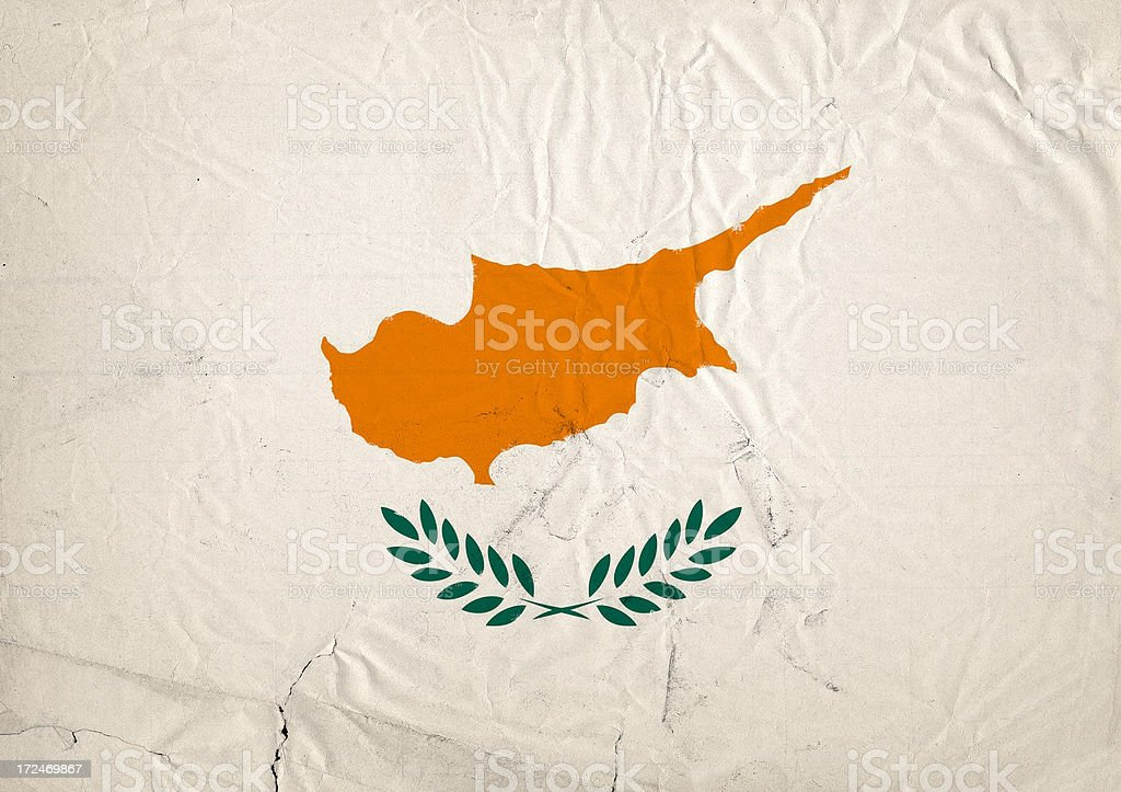 Cyprus flag royalty-free stock photo