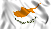 Cyprus flag waving cypr symbol of the country