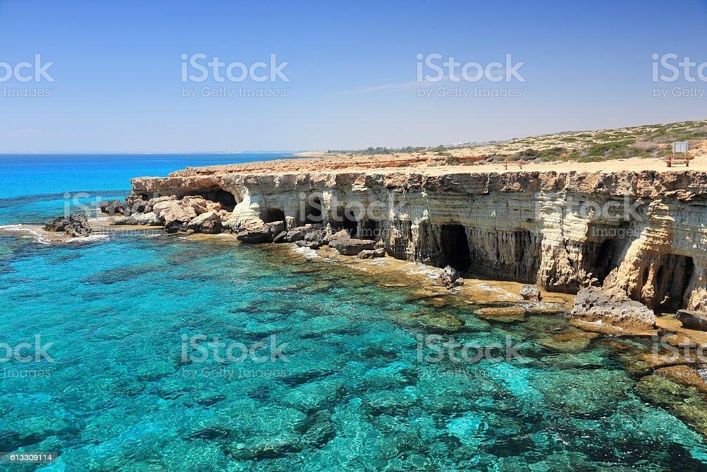 Cyprus Sea Caves stock photo