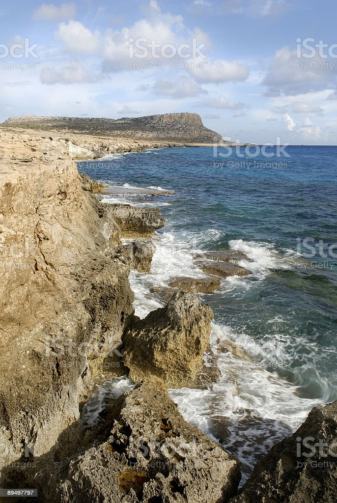Cyprus Sea Cliffs royalty free stockfoto