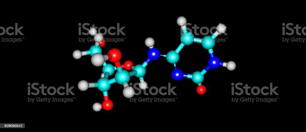 Cytarabine molecular structure isolated on black stock photo