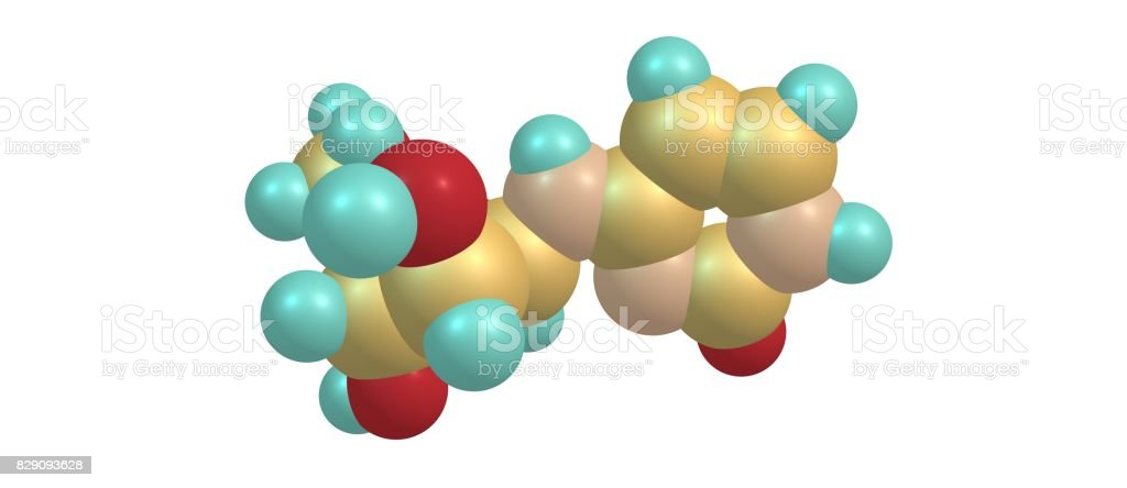 Cytarabine molecular structure isolated on white stock photo