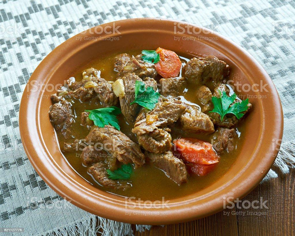 Czech beef goulash stock photo