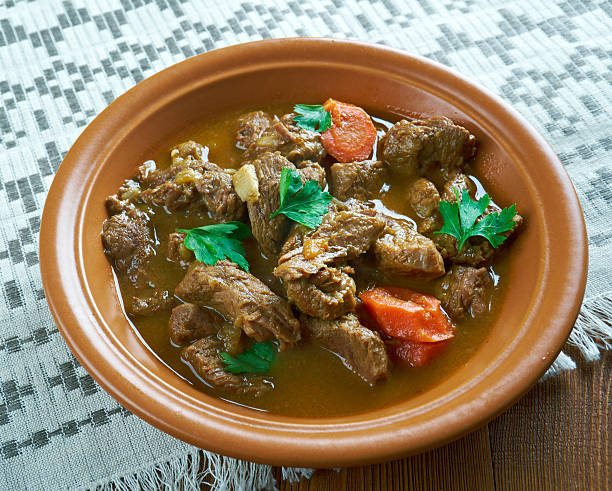 Czech beef goulash stock photo