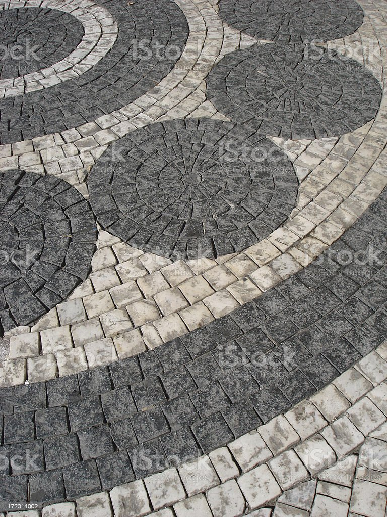 Czech Design in Stone royalty-free stock photo