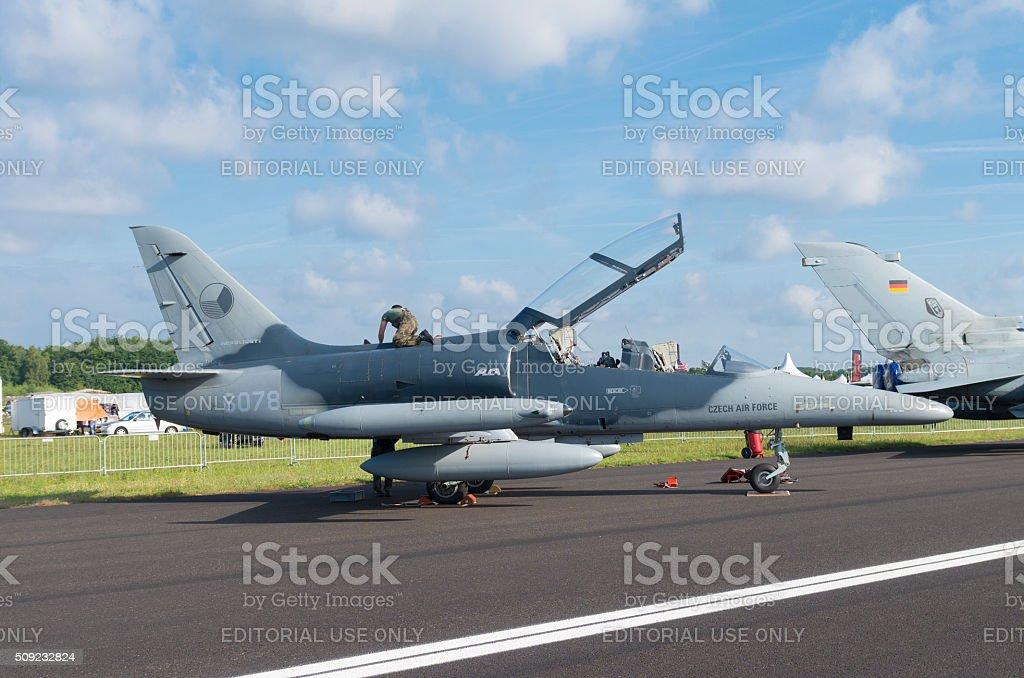 czech fighter jet stock photo
