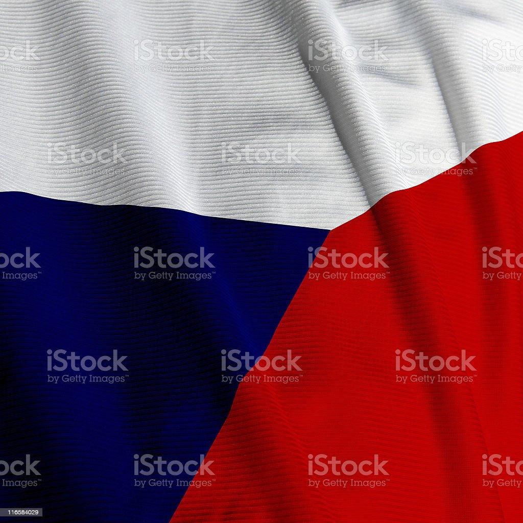Czech Flag Closeup royalty-free stock photo