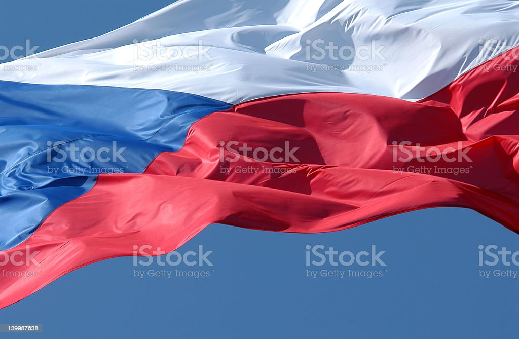 Czech Flag royalty-free stock photo