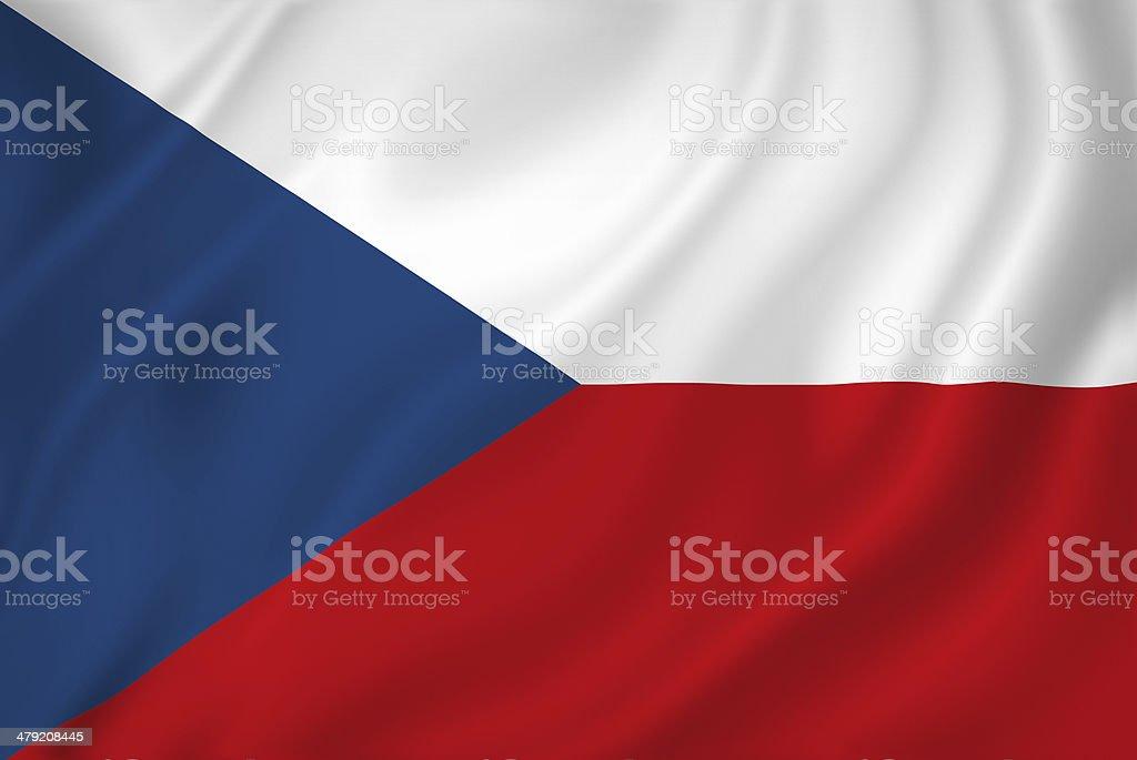 Bandera checa - foto de stock