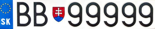 Tschechisches Nummernschild – Foto